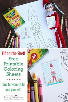 Free-printable-Elf-Coloring-Sheets