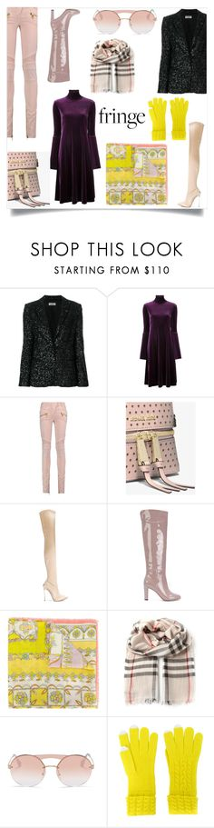 """""""Fringe scarf style"""" by gloriaruth-807 ❤ liked on Polyvore featuring Zadig & Voltaire, Le Ciel Bleu, Balmain, MICHAEL Michael Kors, Casadei, Agnona, Emilio Pucci, Burberry, Prada and N.Peal"""