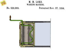 Title - Washing-machine Patent No - US 529,869 Inventor - Mildred M. Lord