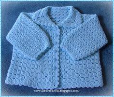 Emilia Cadena's media content and analytics Crochet Baby Dress Pattern, Vintage Crochet Patterns, Crotchet Patterns, Crochet Coat, Crochet Bebe, Baby Girl Crochet, Crochet For Boys, Crochet Baby Booties, Baby Patterns