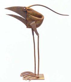 Vögel Online Shop – Chris Kircher Metal Welding, Welding Art, Animals With Horns, Bird Sculpture, Sculpture Ideas, Metal Art Projects, Scrap Metal Art, Garden Items, Small Birds