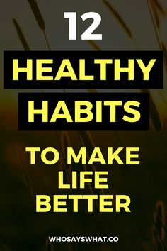 How To Form Healthy Habits   Days Of Habits