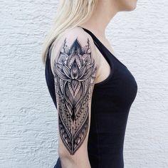 Meticulously Stippled Ornamental Tattoos by Jessica Kinzer. http://illusion.scene360.com/art/84831/jessica-kinzer/