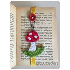 French knot mushroom bookmark...