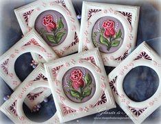 Roses    By Anikó Vargáné Orbán    www.facebook.com/Glazur.es.Ajz http://xn--mzeskalcsok-q7a1h.hu/ www.mezeskalacsajandekok.blogspot.hu www.youtube.com/user/ekesmezeskalacsok  http://www.mezeskalacsajandekok.blogspot.hu