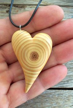 Handmade Heart Carving Pine tree branch by forestinspiration, $18.00