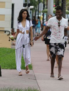 Shanina Shaik and DJ Ruckus out and about in Miami.