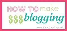 How to monetize your blog - I Heart Nap Time | I Heart Nap Time - Easy recipes, DIY crafts, Homemaking