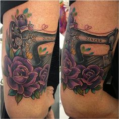 Pretty!!  Love the purple roses.  =]