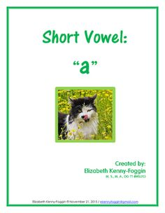This multisensory resource, focuses on the short vowel /a/, is in PDF format and based on the principles of Orton Gillingham, designed to support decoding, encoding, comprehension and reading fluency. This resource is just one of the many that focus on short vowels.