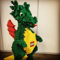 A giant #LEGO dragon made out of #Duplo bricks to greet everyone in the Executive HR office? Why not! I want one.