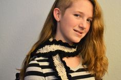 Black and Gray Speckled Curly Scarf by HermitsOfAfton on Etsy