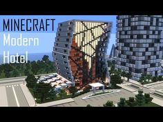 Minecraft Modern Hotel (full interior) + Download - YouTube