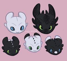 All the family UwU ♥ Credi Httyd Dragons, Cute Dragons, Dragon Birthday, Dragon Trainer, Night Fury, Nightlights, Toothless, Dragon Art, How To Train Your Dragon