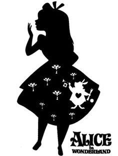 alice in wonderland silhouette tattoos Alice In Wonderland Silhouette, Alice In Wonderland Clipart, Alice In Wonderland Drawings, Disney Silhouette Art, Silhouette Design, Disney Fantasy, Disney Font Free, Silhouette Tattoos, Jar Art