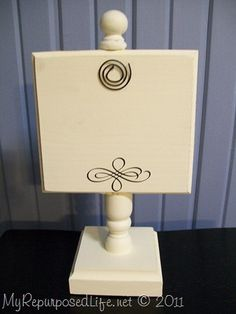 photo holder-photo stand made from scrap parts of wood and chairs