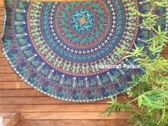 Mandala Gypsy Indian Hippie Elephant Round Tapestry Roundie Yoga Mat Beach Throw in Home, Furniture & DIY, Home Decor, Wall Hangings