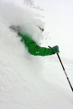 Skiing. Powder.