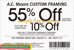 AC Moore Coupons Ends of Coupon Promo Codes MAY 2020 ! We and share create and more. Different Coupon types and it's use. Kfc Coupons, Online Coupons, Walgreens Coupons, Pizza Coupons, Target Coupons, Free Printable Coupons, Free Printables, Ac Moore, Thing 1