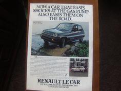 RENAULT Le Car ad 1980 magazine advertisement Vintage magazine ads carry historical and nostalgic significance for collectors. Vintage magazine ads make wonderful and unique gift ideas.