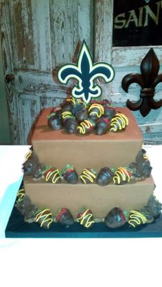 Thanks to Brittany Simon for sending! #saints #Cake #Cakes #Wedding