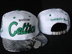 Boston Celtics Snakeskin Strapbacks Hats Mitchell Ness Snapback