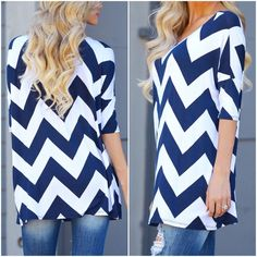 Chevron print tunics Lightweight navy chevron print tunics. Please do not purchase this listing. Comment with size and I will create a new listing for you. Small (2/4) Medium (6/8) Large (10/12). Price is firm unless bundled. PLEASE read‼️Although the sizes are suggested by the manufacturer this top has a generous fit...please ask me and we can discuss best possible sizing. Thank you Tops Tunics