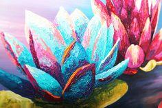 Lotus oil painting Lotus flower oil paintings Oil painting