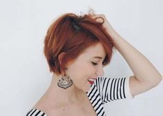 40 Amazing Short Pixie Hairstyles & Haircuts - Short Haircut Z Short Hairstyles For Thick Hair, Short Pixie Haircuts, Curly Hair Styles, Shaggy Pixie, Short Red Hair, Cute Short Hair, Short Fine Hair, Long Pixie Bob, Messy Pixie