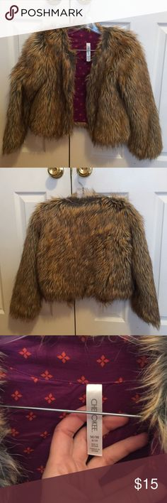 Target girls fur coat Perfect condition , worn a few times size 8-10 years old Cherokee Jackets & Coats