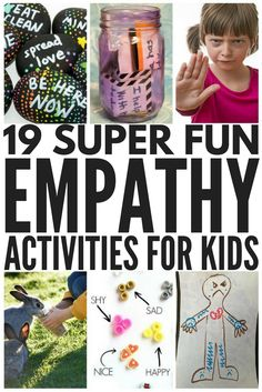 Looking for fun empathy activities to teach young people about kindness and compassion, and help them understand the feelings of others? Developing empathy has never been more fun than with these 19 activities for kids of all ages! Teaching Empathy, Teaching Kindness, Kindness Activities, Therapy Activities, Preschool Activities, Teaching Kids Respect, Kindness For Kids, Friendship Activities, Play Therapy