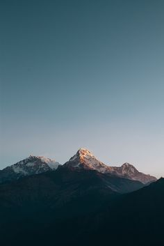 Annapurna Mountains.
