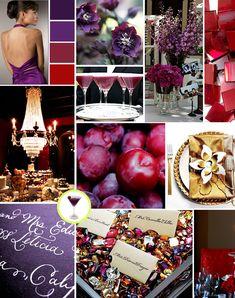 Ideas For Wedding Colors Red Purple Jewel Tones Purple And Gold Wedding, Jewel Tone Wedding, Red Wedding Flowers, Fall Wedding Colors, Pewter Wedding, Red Color Schemes, Wedding Color Schemes, July Wedding, Dream Wedding