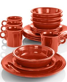 #Fiesta Dinnerware 16 Piece Set #macys #registry #ido BUY NOW! & Fiesta Dinnerware - Fiesta - Dining u0026 Entertaining - Scarlet | All I ...