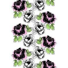 Dieser aufheiternde Duschvorhang von Vallila Interior belebt jedes Badezimmer. Die großen Blumen in grau-lila-grünen Farbtönen wirken, als ob sie von oben herabfallen – wie ein richtiges Blumenmeer im Badezimmer!