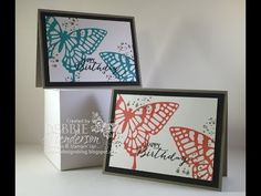 Make Your Own Fun Foam Stamps for stamping using Stampin' Up! Butterfly Thinlit Dies, Awesomely Artistic and Butterfly Basics. Youtube Video included. Debbie Henderson, Debbie's Designs.