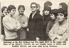 At the First English Concert of Roy Orbison (L/R) Steve Marriott, Ian McLagan and Ronnie Lane (The Small Faces) with Roy Orbison, Barry Ryan hit single: 'Eloise'), and others musicians' Bands. Fashion Tips For Girls, Petite Fashion Tips, Ronnie Lane, Steve Marriott, The Ventures, Travelling Wilburys, Dad Rocks, Roy Orbison, Music