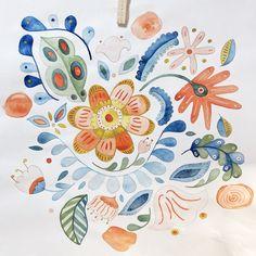 Folk Mood - Croquis préparatoir à l'aquarelle dans une ambiance très nature ! Creations, Mood, Nature, Watercolor Painting, Sketch, Naturaleza, Nature Illustration, Off Grid, Natural