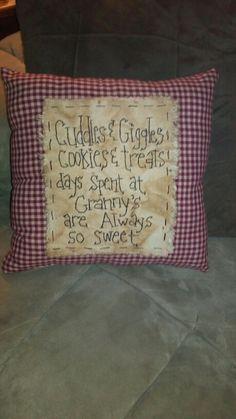 Primitive pillow GRANNY