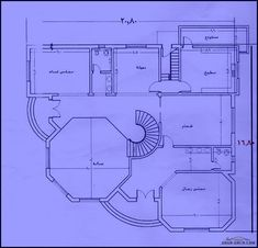 مخطط فيلا الارض 30 طول* 23.5 عرض المساحه 705م Drawing House Plans, Cat House Plans, Square House Plans, Basement House Plans, House Layout Plans, Dream House Plans, Small House Plans, House Layouts, Flat House Design