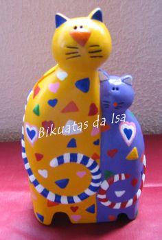 Gatos(mealheiro)pintados à mão