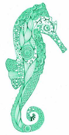 I love seahorses! I love art! Beautiful creation.