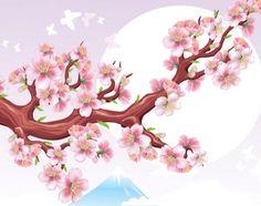 Картинки по запросу рисунок сакуры на стене своими руками