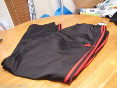 Men's Adidas active performance pants red black VC POST GAME PA NEW XL 089850
