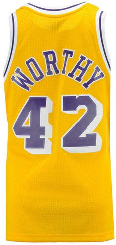 bab590e5064 Mithcell & Ness Men's James Worthy Los Angeles Lakers Hardwood Classic  Swingman Jersey James Worthy