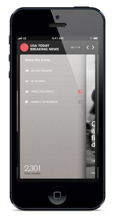 USA Today Alerts - iPhone App, News App, Visual Design — Marcus Edvalson