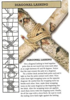http://www.paracordist.com Diagonal Lashing #knots #camping