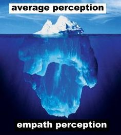An average person's perception of another's situation is only the tip of the iceberg while the empathetic person's perception is much deeper and way more caring.