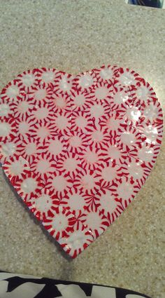 Peppermint Heart Serving Tray!