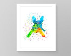 Boston terrier puppy wall art watercolor splash wall picture silhouette printable wall decor nursery children gift picture dog trendy art by GecleeArtStudio on Etsy
